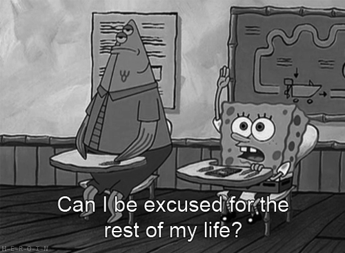 question,school,SpongeBob SquarePants