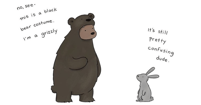Cute halloween animal comics.