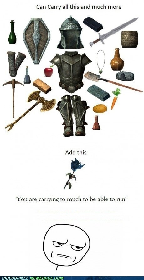 overencumbered,elder scrolls,Skyrim