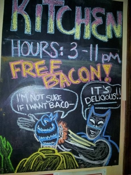 batman slap,enough batman,bacon