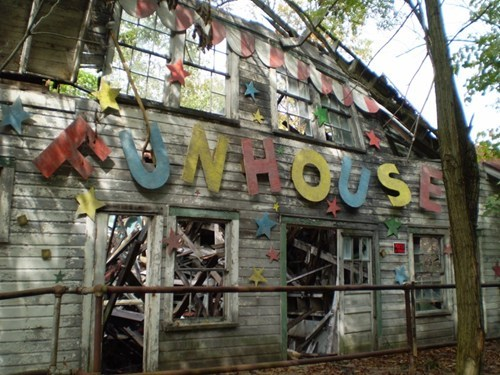 abandoned creepy Fun House