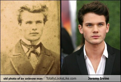 old photo of an unknow man Totally Looks Like Jeremy Irvine