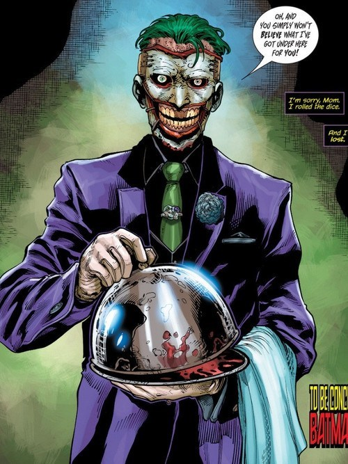 wtf joker creepy off the page batman - 6977860608