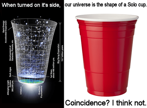 solo cup,universe,a sign,science