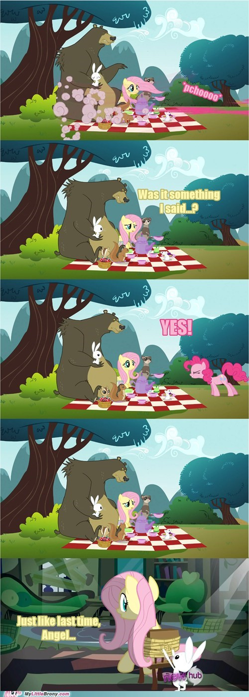 comics,pinkie pie,fluttershy,mirror pond