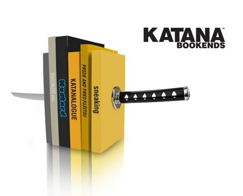 katana stab book ends books sword illusion - 6978264320