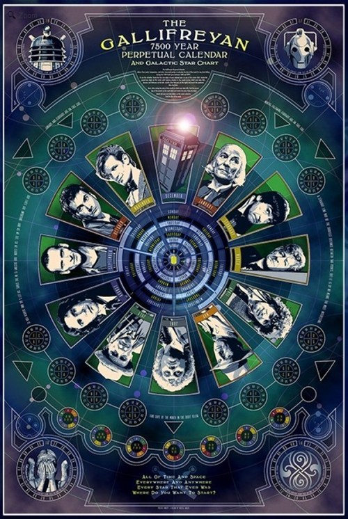 gallifreyan calendar Fan Art doctor who Time Lords - 6978289152