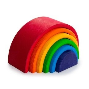 toy decor wood colorful home rainbow - 6978297600