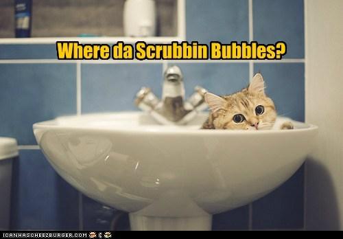 Where da Scrubbin Bubbles?