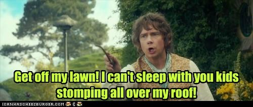 roof Martin Freeman Bilbo Baggins get off my lawn cant-sleep The Hobbit The Shire