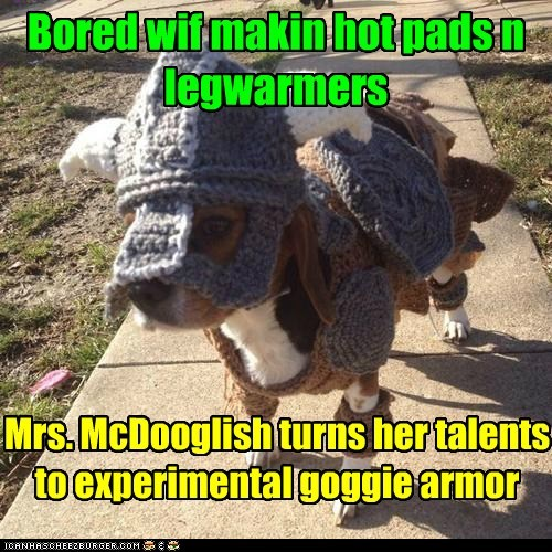 dogs,knitting,armor,beagle