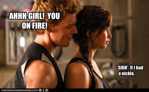 the girl on fire pickup lines nickle finnick odair fire jennifer lawrence hunger games catching fire katniss everdeen sam claflin