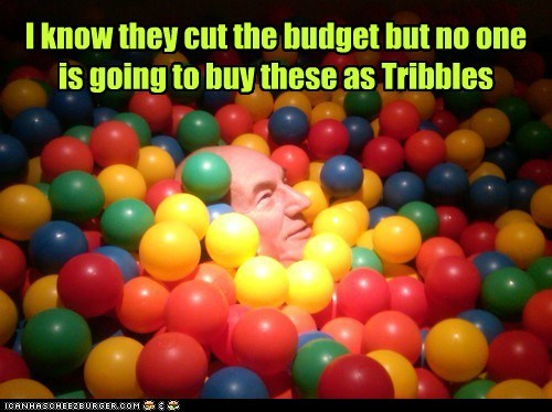 tribbles Captain Picard budget cuts patrick stewart - 6979092992