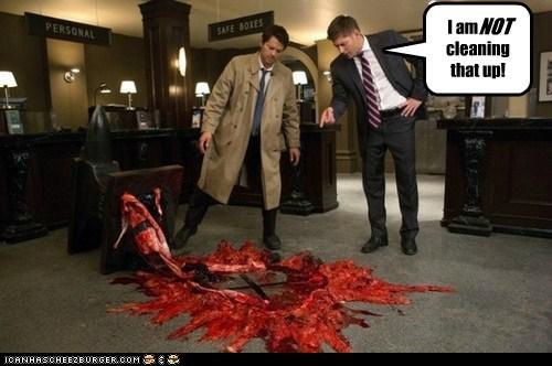 Blood jensen ackles anvil Supernatural dean winchester misha collins castiel - 6979342336