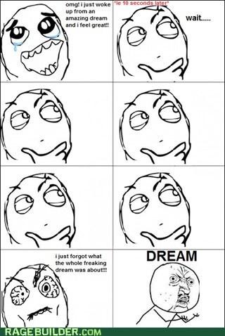 Dreams I can't remember