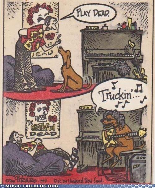 dogs the grateful dead comics puns - 6979779840