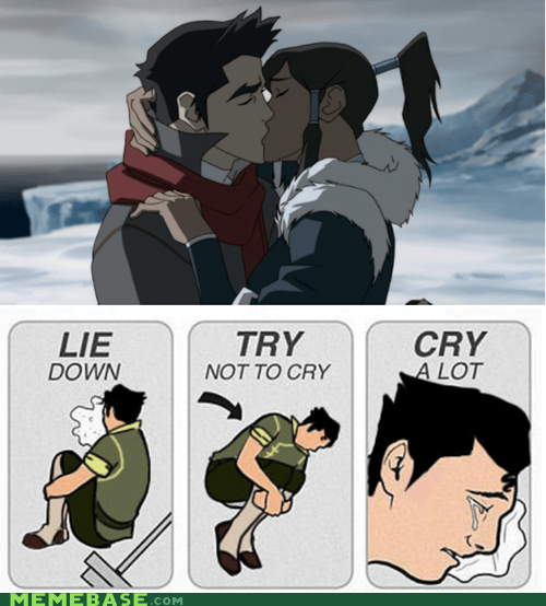 try not to cry,bolin,mako,korra