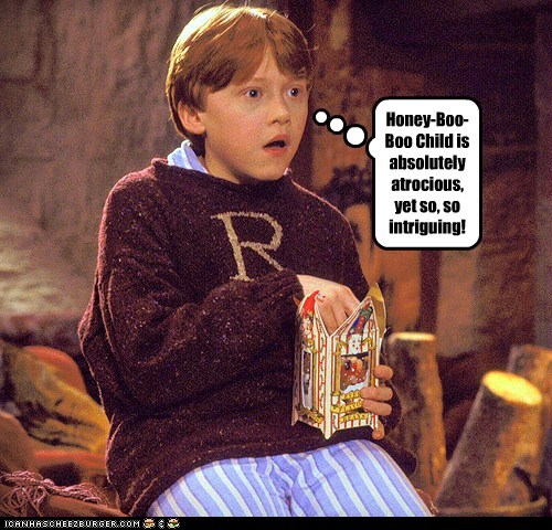 Harry Potter atrocious Popcorn rupert grint honey boo-boo Ron Weasley mesmerized intriguing
