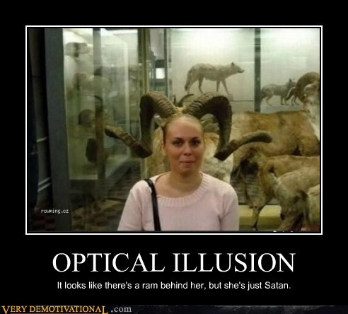 satan,horns,optical illusion