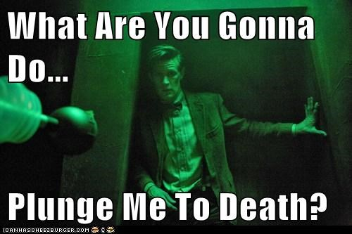 Death the doctor Matt Smith plungers doctor who