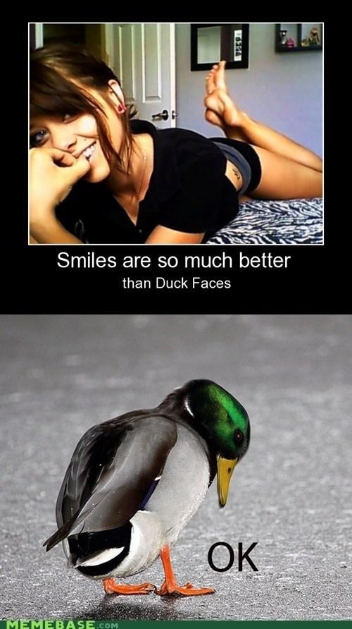 duck duck face Okay smile - 6980637952