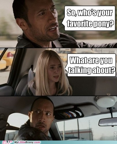 Memes who knows the rock favorite pony - 6980926976
