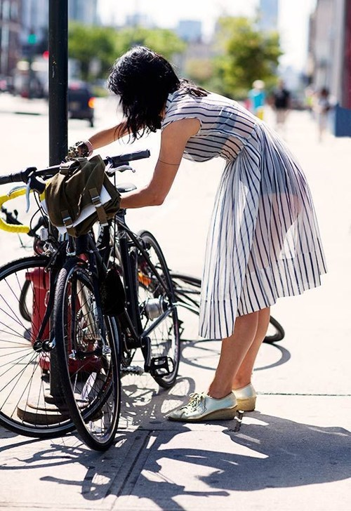 see through,bicycles,dress