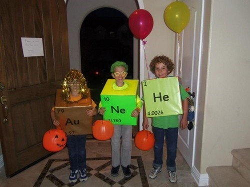 halloween Balloons periodic table childrens costumes