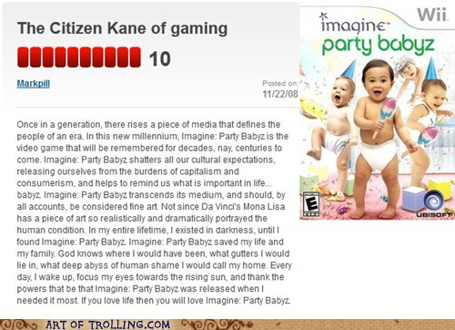 Babies,review,citizen kane,Movie,video game,masterpiece,wii