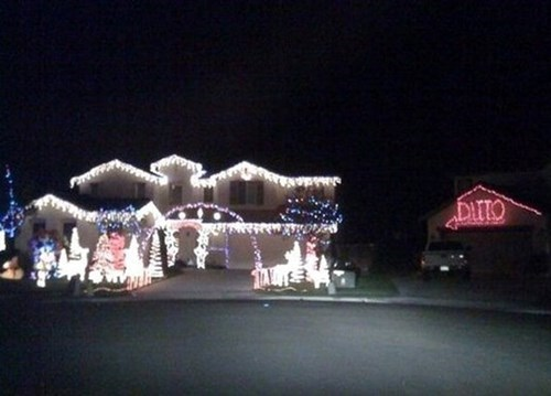 christmas lights FAIL funny win - 698117
