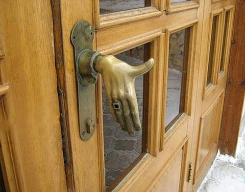 awesome door handle hand