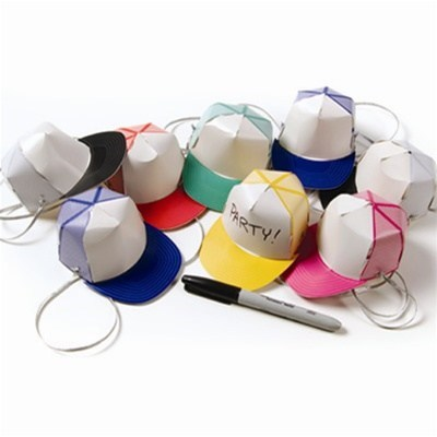 party hats,trucker hats,hats,paper,miniature