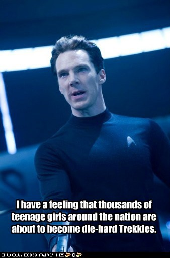 benedict cumberbatch hot thousands girls die hard Trekkies