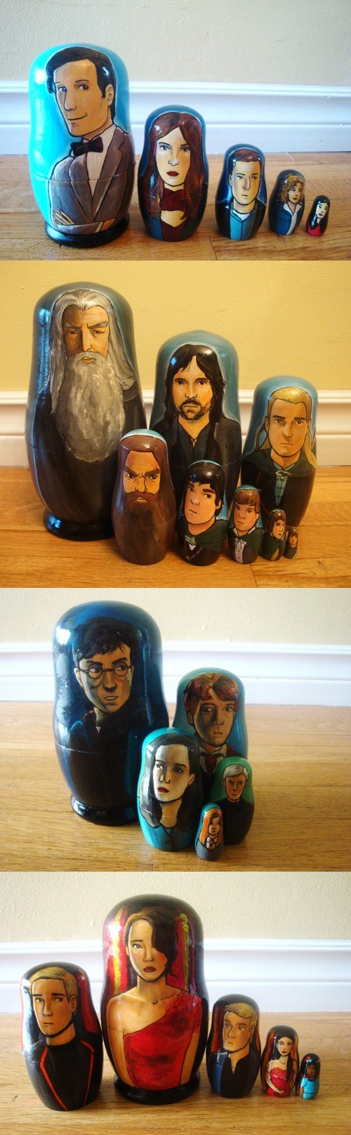 fantasy Lord of the Rings Harry Potter Fan Art hunger games doctor who nesting dolls science fiction