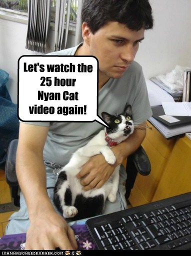 Let's watch the 25 hour Nyan Cat video again!