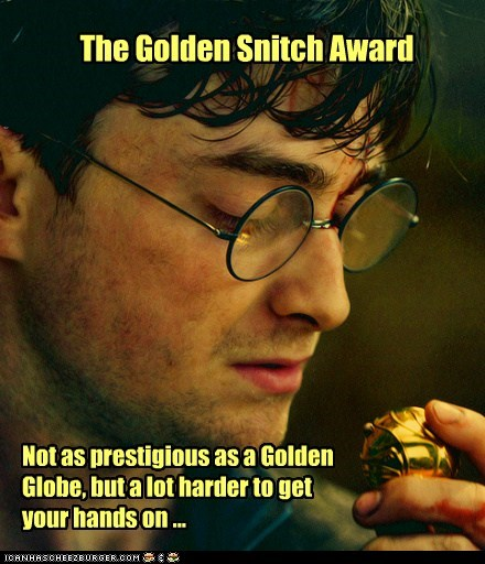 golden globes,Harry Potter,Daniel Radcliffe,harder,golden snitch