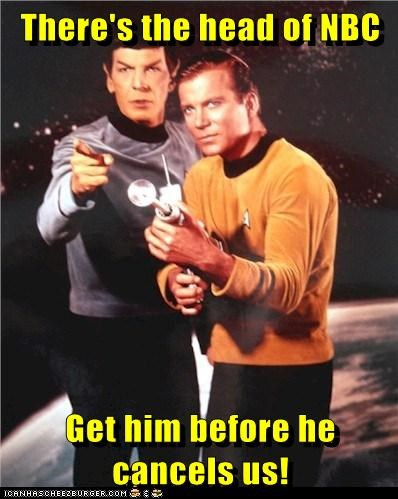 Captain Kirk cancelled phaser Spock NBC shoot Leonard Nimoy William Shatner Shatnerday - 6981594624