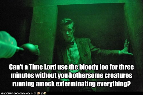 Exterminate Time lord daleks Matt Smith bathroom doctor who