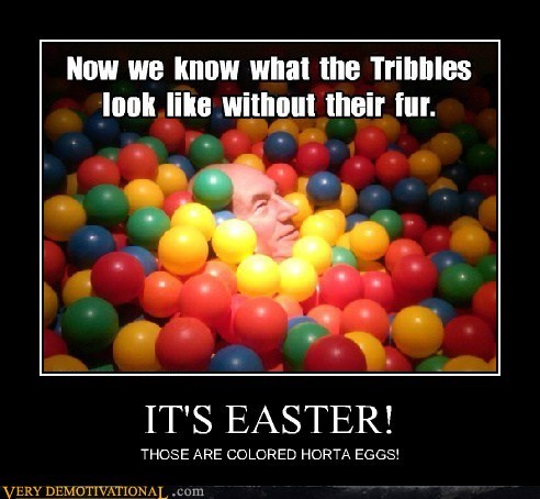 easter,tribbles,eggs,Star Trek