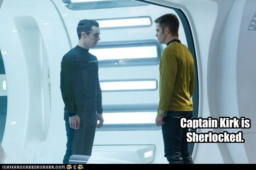 benedict cumberbatch Captain Kirk sherlocked Sherlock Star Trek star trek into darkness chris pine - 6981990912