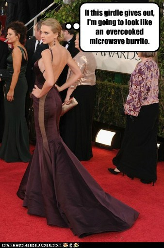 taylor swift,golden globes,burrito,girdle,worrying