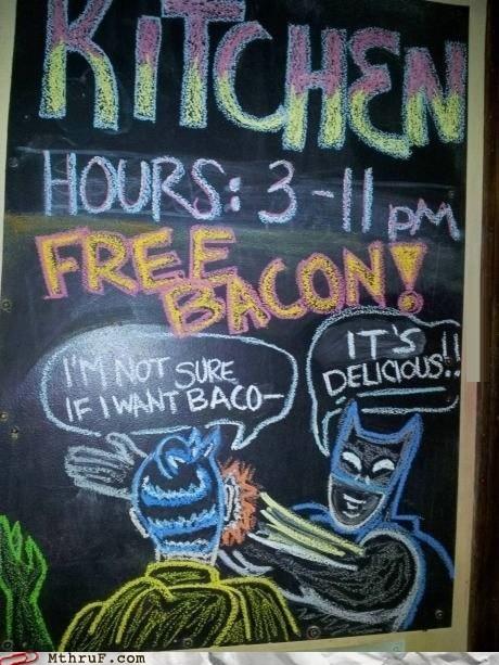 not sure free bacon chalkboards batman bacon - 6982102016