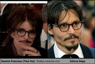 Damien Francisco (Tina Fey) Totally Looks Like Johnny Depp