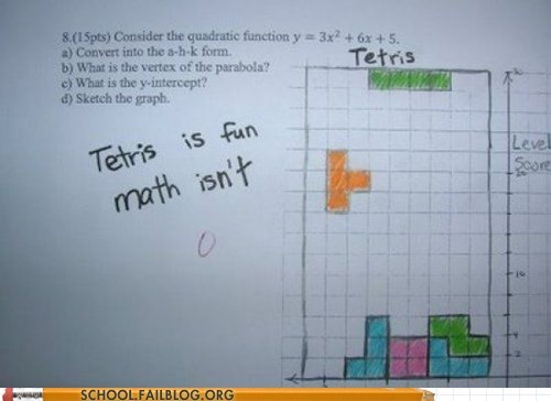 gaming,graphs,tetris,math,g rated,School of FAIL