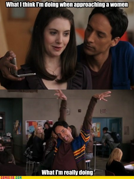 Abed,community,fifty shades of grey,expectation vs reality