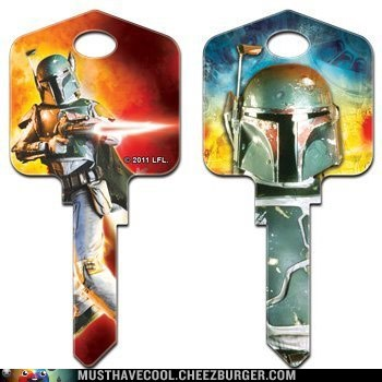 Star Wars Boba Fett Kwikset House Key