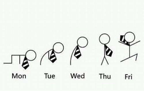 FRIDAY,hooray,weekly progression,monday