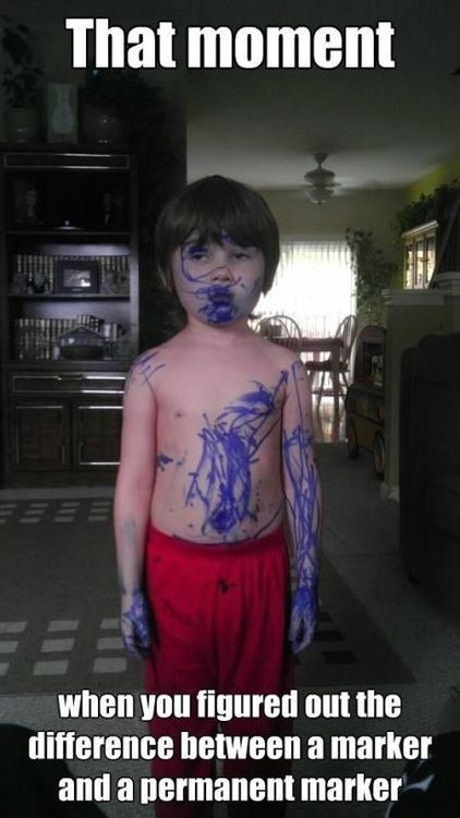 blue markers messy kids g rated Parenting FAILS - 6983498240