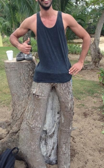 tree trunk wood stump legs - 6983512320