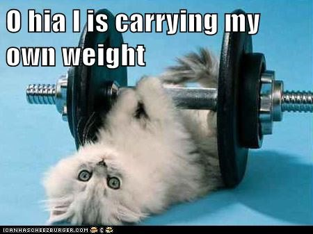 O hia I is carrying my own weight